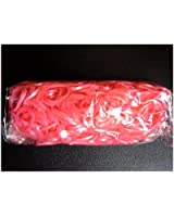 Lot de 600 élastiques en silicone METAL metallique rouge , 12 fermoirs pour rainbow Loom Bands