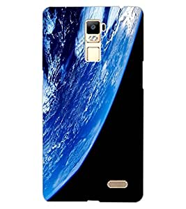 ColourCraft Earth Design Back Case Cover for OPPO R7