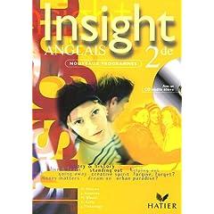 Insight Anglais 2e : Manuel (avec 1 CD audio)