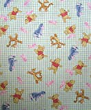 SheetWorld Fitted Pack N Play (Graco Square Playard) Sheet - Pooh & Friends Green - Made In USA
