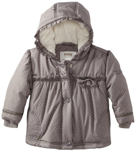 KANZ Baby Baby-Girls Infant Polkadot Coat, Cloudburst, 18 Months
