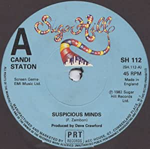"""Candi Staton - Suspicious Minds - Candi Staton 7"""" 45 - Amazon.com"""