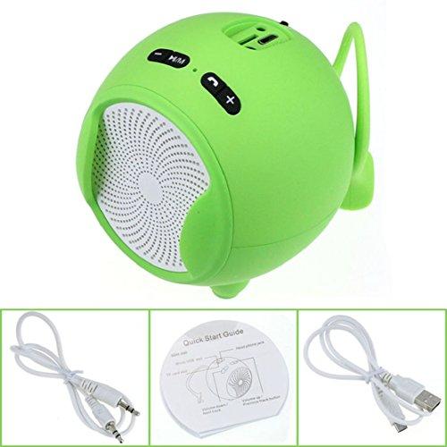 Towallmark(Tm)Portable Wireless Bluetooth Handsfree Mic Super Bass Mini Speaker (Green)