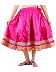 Sunshine Enterprises Women's Satin Wrap Skirt (Pink) - B01HELPING