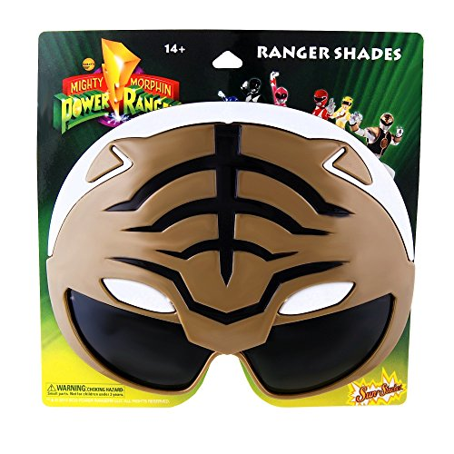 H2W Officially Licensed Power Rangers Sun-Staches, White - 1