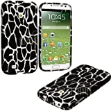 "myLife Black + White Giraffe Series (2 Piece Snap On) Hardshell Plates Case for the Samsung Galaxy S4 ""Fits Models... by myLife Brand Products"