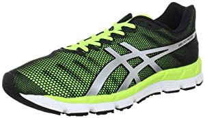 ASICS Men's Gel-Hyper33 Running Shoes, Black/Silver/Yellow, US11.5