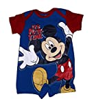 Disney Mickey Mouse Baby Boys ' It's Play Time ' Classic Print Romper - Red Blue