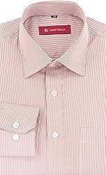 HASTINGS Men's Formal Shirt (V132_38, Brown, 38)