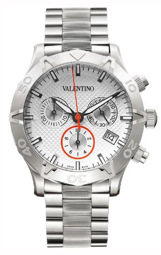 Valentino Homme Chronograph Stainless Steel Mens Watch Calendar Silver Dial V40LCQ9902-S099