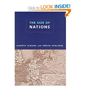 The Size of Nations Alberto Alesina, Enrico Spolaore