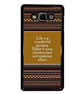PrintDhaba Quote D-4172 Back Case Cover for SAMSUNG GALAXY A8 (Multi-Coloured)