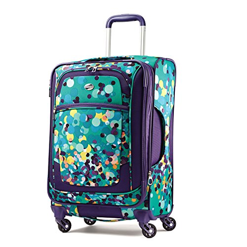 American Tourister Ilite X'Treme 21 Spinner, Purple Dot, One Size