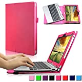 Infiland Acer Aspire Switch 10 SW5 Case, Premium PU Leather Keyboard Portfolio Stand Case Cover For Acer Aspire...