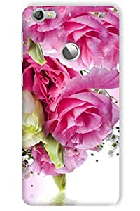 IndiaRangDe Printed Back Cover For LeEco LeTV Le 1s Pink