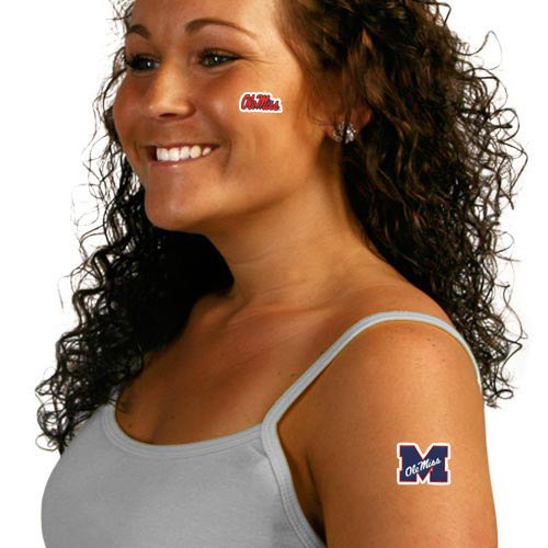 Mississippi Rebels 4-Pack Team Logo Temporary Tattoos - 1