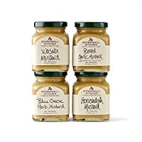 Stonewall Kitchen Mustard Collection Includes Wasabi, Roasted Garlic, Blue Cheese Herb and Horseradish Mustards