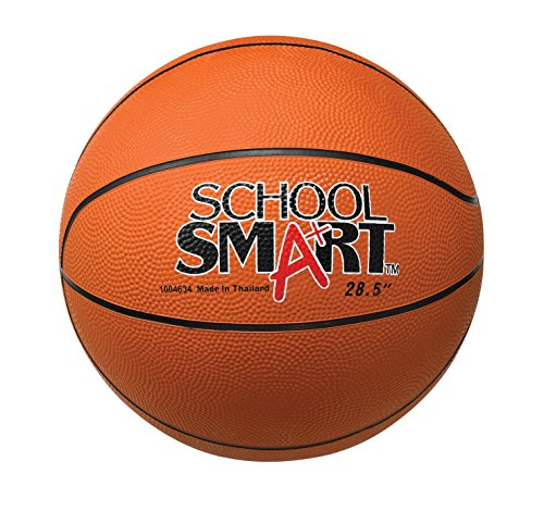 School Smart Rubber Basketball - Junior - 27 inches