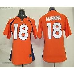 Ladies Denver Broncos Peyton Manning Orange On-field Jersey Size X-large by Pro-Player