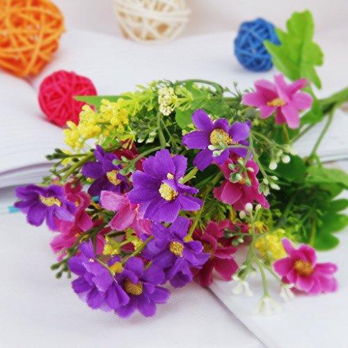 sodial r 1 bouquet de cineraire faux bouquet de fleurs artificielles pour decor de maison. Black Bedroom Furniture Sets. Home Design Ideas