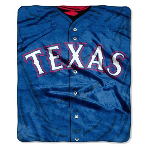 Mlb Texas Rangers Jersey Raschel Throw, 50 X 60-Inch front-843512