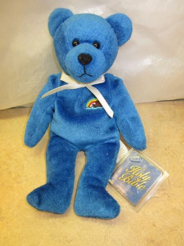 "Holy Bears Blue From the Heart Promise 9"" Beanie Bear - 1"