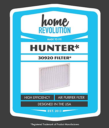 1 Hunter 30920 Home Revolution Brand Air Purifier Filter; Fits Hunter Models: 30050, 30055, 30065, 37065, 30075, 30080 & 30177