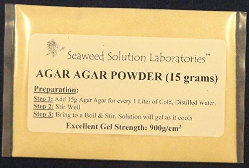 Agar Agar Powder - 15 grams, Laboratory Grade, Excellent Gel Strength 900g/cm2 (Petri Dishes Nutrient Agar compare prices)