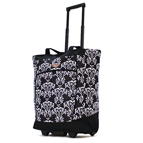 olympia-fashion-rolling-shopper-tote-db-damask-black-one-size