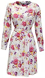 Attuendo Women's Printed Indian Cotton Dress (Large)