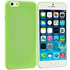 Accessory Planet(TM) Neon Green 0.3mm Super Ultra Thin Rear Case Back Cover for Apple iPhone 6 Plus (5.5)