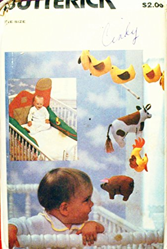 Butterick 6854 Baby Bumpers, Mobil, Toys, Wall Hanging Sewing Pattern Vintage front-267942