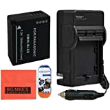 DMW-BLE9 Battery And Battery Charger for Panasonic Lumix DMC-GF3 DMC-GF5 Digital Camera + More!!