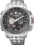 [シチズン]CITIZEN 腕時計 PROMASTER プロマスター SKY Eco-Drive エコ・ドライブ ワールドタイム アナデジ 多機能モデル JZ1061-57E メンズ