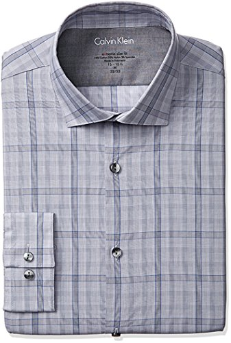 Calvin-Klein-Mens-Stretch-Xtreme-Slim-Fit-Large-Check-Spread-Collar-Dress-Shirt