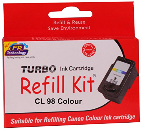 Turbo ink refill kit for Canon CL 98 colour ink cartridge  available at amazon for Rs.483