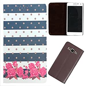 DooDa - For Samsung Galaxy Mega 6.3 PU Leather Designer Fashionable Fancy Flip Case Cover Pouch With Smooth Inner Velvet