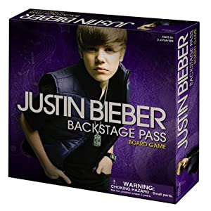 Justin Bieber Backstage Passes on Justin Bieber Backstage Pass Board Game  Amazon Co Uk  Toys   Games