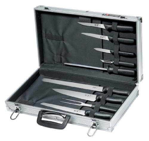 Wenger Grand Maitre 9-Piece Chef'S Knife Set And Case
