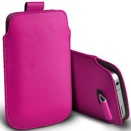 ( Hot Pink ) Samsung Rex 60 C3312R Schutzkunstleder Pull Tab stilvolle Einbau Beutel-Kasten-Abdeckung Haut durch Fone-Case