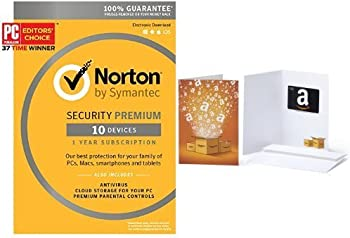 Norton Security Premium for 10 Devices w/$10 Gift Card