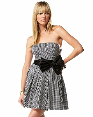 bebe.com Strapless Check Party Dress :  strapless check party dress strapless bebe