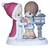 Precious Moments Couple at Mailbox Figurine