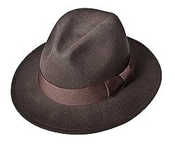 Indiana Jones Ij552 Crushable Water Repellent Men's Wool Felt Safari ,X-Large,Brown-552
