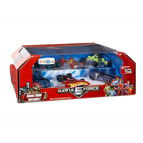 Buy Low Price Mattel Hot Wheels Battle Force 5 1:64 Scale Die Cast Car Exclusive 7 Pack Figure (B002Q6PTRK)