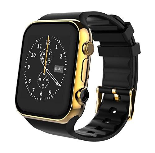 Scinex Scinex Unisex SW20 16GB Bluetooth Smart Watch GSM Phone, Gold / Black