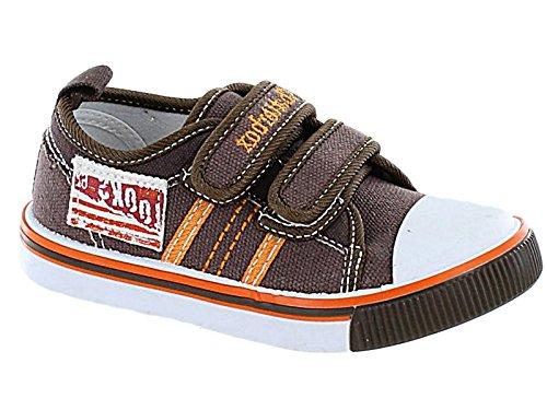 Foster Footwear - Sandali con Zeppa da ragazza' Ragazzi Unisex per bambini , grigio (Brown), 37 EU Infant