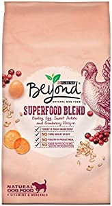 Purina Beyond Dry Dog Food, Superfood Blend, Barley Sweet Potato and Cranberry Recipe, 14.5-Pound Bag, Pack of 1