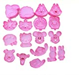 Autek 18pc 3D Disney Cartoon Fondant Cake Sugarcraft Baking Biscuit Cookie Cutter Mold(3DMold-22-18pc)