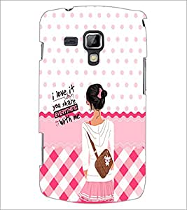 PrintDhaba Quote D-5896 Back Case Cover for SAMSUNG GALAXY S DUOS S7562 (Multi-Coloured)